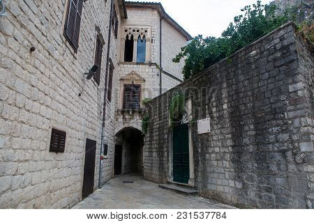 Courtyard Of The Old Town In Kotor Montenegro