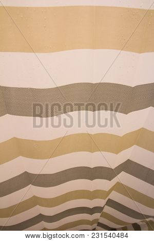 Close Up Of Shower Curtain Modern Background