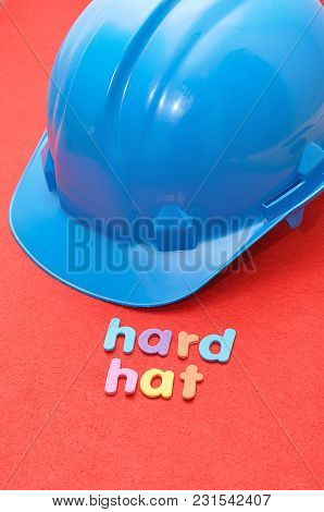 A Hard Hat With The Word Hard Hat