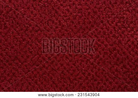 Saturated Red Fabric Texture. High Resolution Photo.