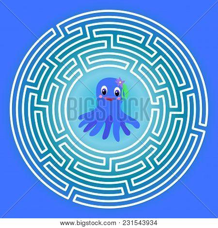 Maze Children Game: Help The Octopus Go Through The Labyrinth