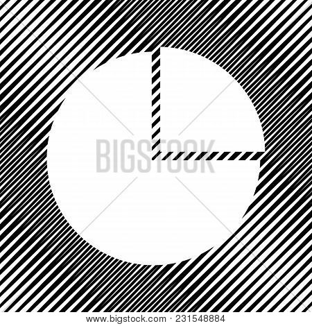 Business Graph Sign. Vector. Icon. Hole In Moire Background.