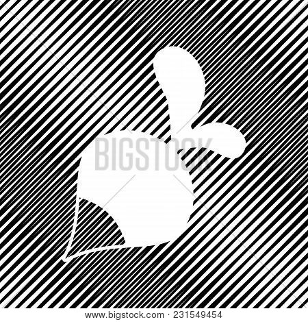 Radish Simple Sign. Vector. Icon. Hole In Moire Background.
