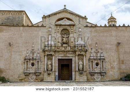 Monastery Of Santa Maria De Poblet, Catalonia, Spain, Church Entrance Portal