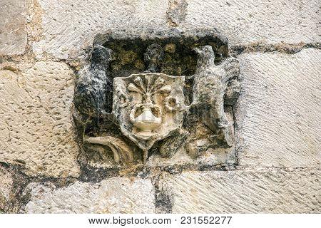 Monastery Of Santa Maria De Poblet, Catalonia, Spain Entry Coat Of Arms