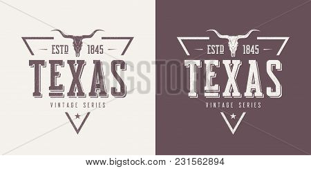 Texas State Textured Vintage Vector T-shirt And Apparel Design, Typography, Print, Logo, Poster. Glo