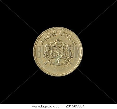 Obverse Of 10 Centimes Coin Made By Morocco In 1974