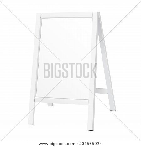 Outdoor Indoor Stander Advertising Stand Banner Shield Display, Advertising. Illustration Isolated O