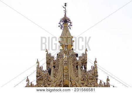 Buddhist Temple Complex Shwedagon Is A Historical Symbol Of Buddhism, Yangon, Myanmar