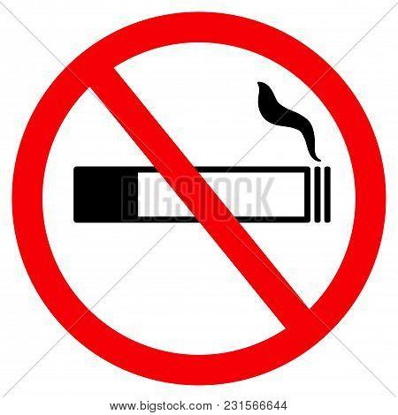 No Smoke Sign, Icon No Smoking, Banner No Smoke