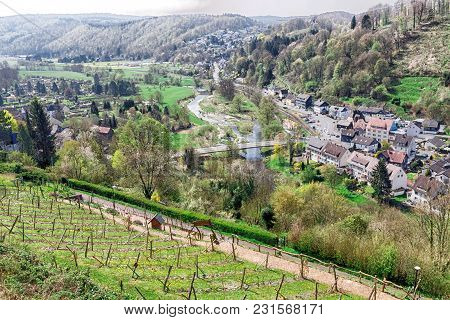 A View Over Sauerland Germany, This Is A Very Beautiful Area.