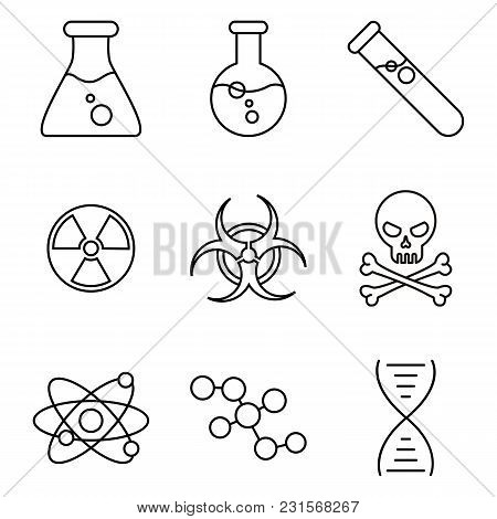Vector Set Of Chemical And Physical Icons.
