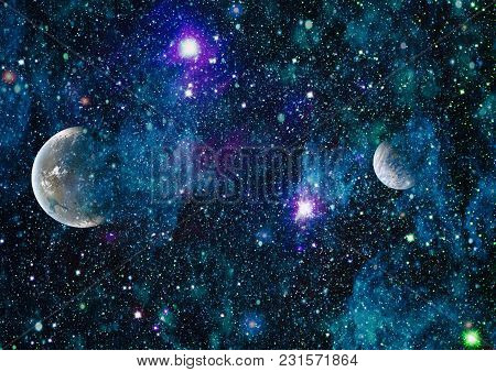 Nebula And Galaxies In Space.planet And Galaxy - Elements Of This Image Furnished By Nasa