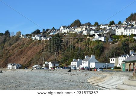 Laxey Town Looking Over The Sea, Isle Of Man