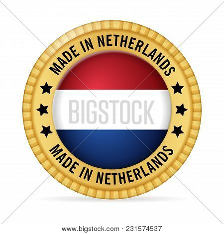 Icon Made In Netherlands On A White Background.