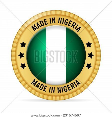 Icon Made In Nigeria On A White Background.