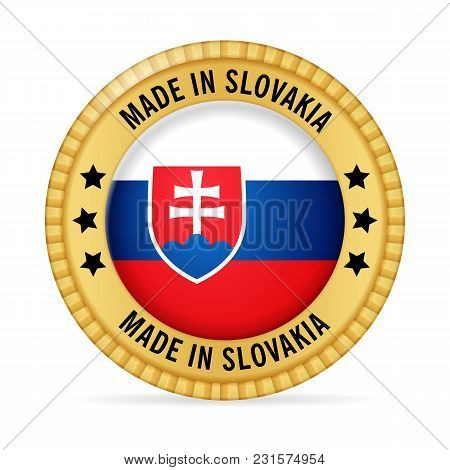 Icon Made In Slovakia On A White Background.