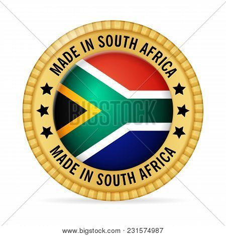 Icon Made In South Africa On A White Background.