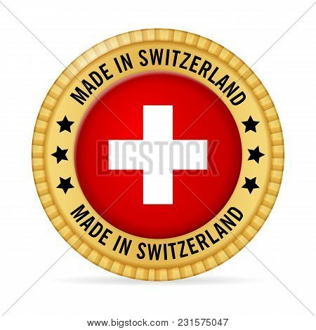 Icon Made In Switzerland On A White Background.