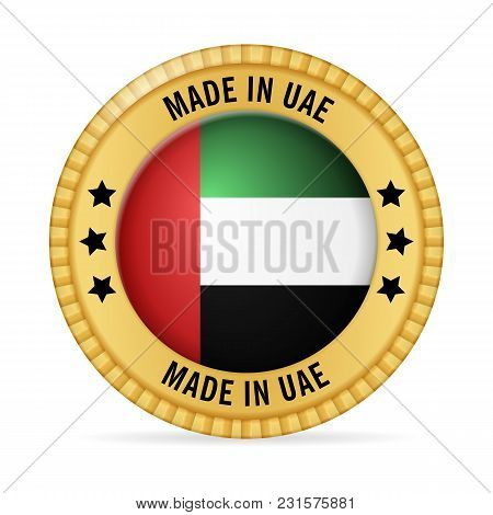 Icon Made In Uae On A White Background.