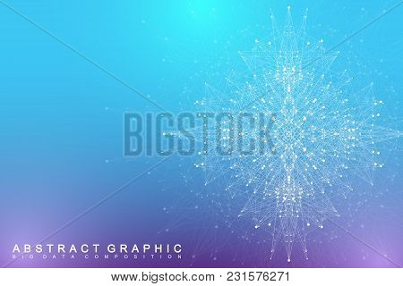 Big Data Complex. Graphic Abstract Background Communication. Perspective Backdrop Visualization. Ana
