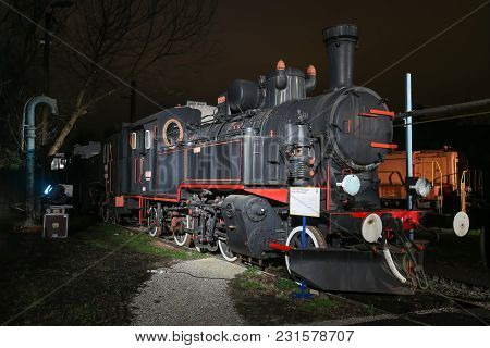 Zagreb, Croatia - December 13th, 2017: Advent Time At The Croatian Railway Museum In Zagreb. Jz 51-1