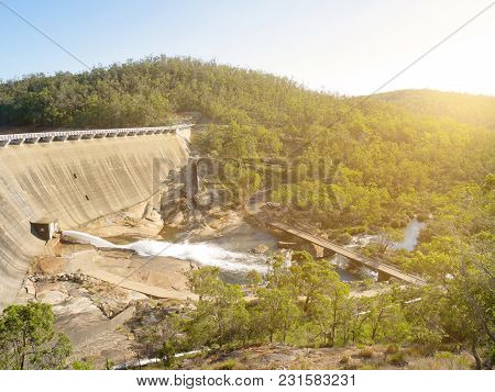 Scenery Behind Wellington Dam Hydro Power Station In Western Australia In Evening