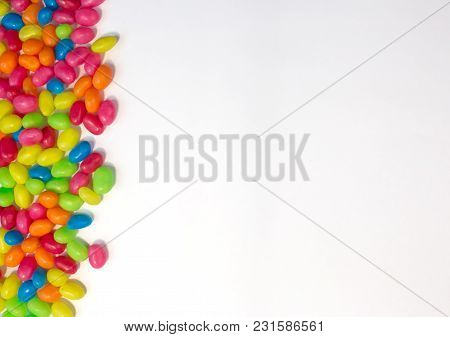 Jelly Bean Border With White Box Space For Text