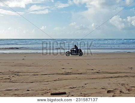 Motor driving at the beach