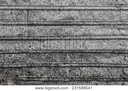 Corrugated Metal Texture Surface Background. Metal Profile Background. Old Metal