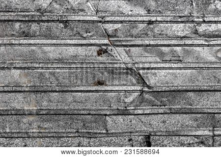 Corrugated Metal Texture Surface Background. Metal Profile Background. Old Metal. Damaged Metal. Met