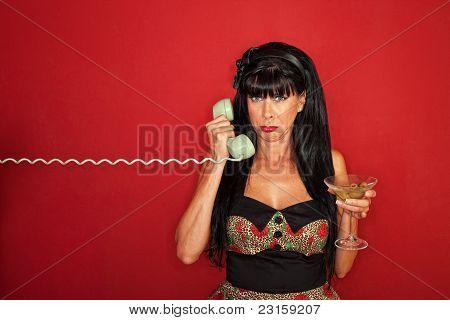 Upset Woman On Phone Call