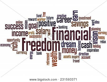 Financial Freedom Word Cloud Concept 3