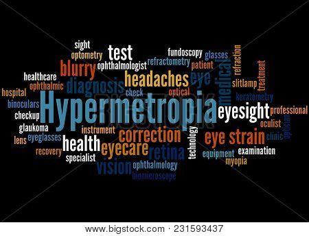 Hypermetropia Word Cloud Concept 3