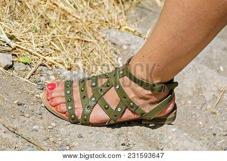 Foot In Sandals.