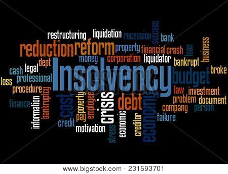Insolvency Word Cloud Concept 2