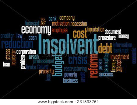 Insolvent Word Cloud Concept 2