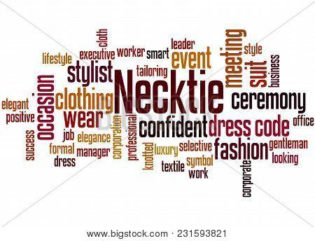 Necktie Word Cloud Concept 3