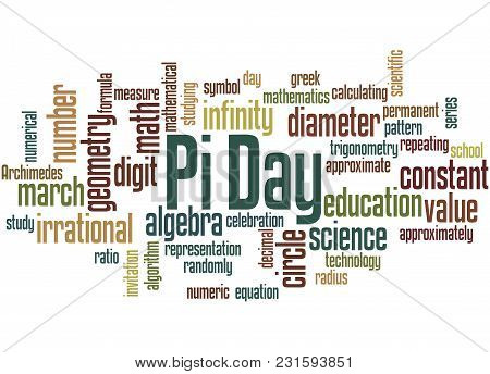 Pi Day Word Cloud Concept