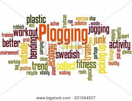 Plogging Word Cloud Concept 2