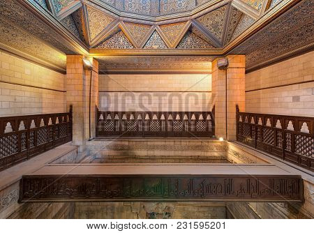 Cairo, Egypt - March 17 2018: Interior Of Nilometer Building, An Ancient Egyptian Water Measurement