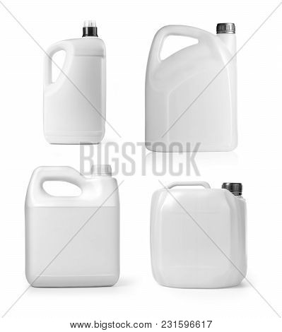 Plastic Canister On White