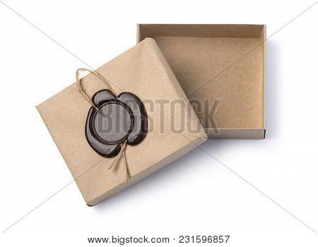Cardboard Box With Wax Seal