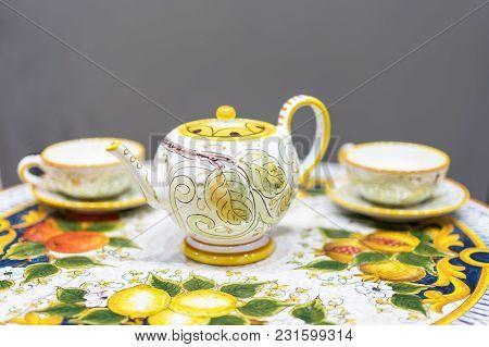 Expensive And Beautiful Tea Set Of Porcelain.