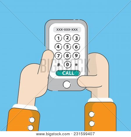 Phone Call,  Calling Screens, Dial Number Concept.