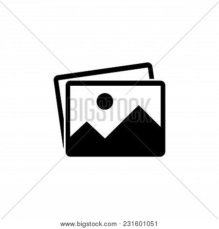Picture Vector Icon, Image Symbol. Simple Photograph Sign In Black. Album Icon. Modern Flat Vector I