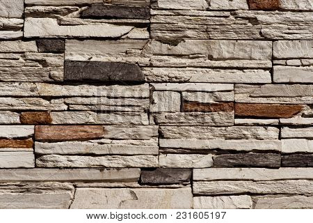 Stone Brick Wall Seamless Background - Texture Pattern For Continuous Replicate