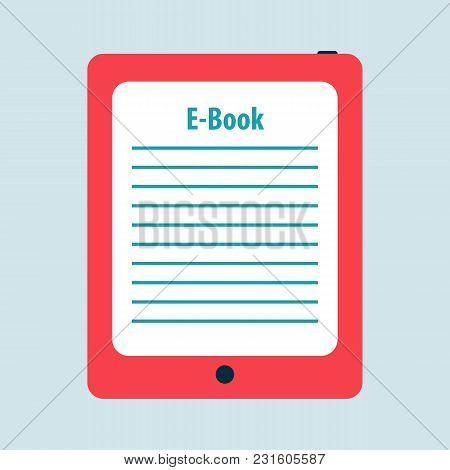Ebook Reader Flat Icon. Free Royalty Images.