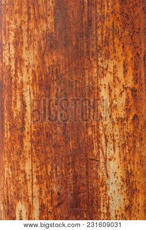 Background Of Dirty Old Rusty Metal Closeup
