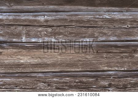 Wooden Horizontal Planks Background Or Texture For Design